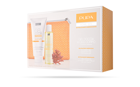 SHOWER GEL and BODY OIL REVITALIZING ENERGIZING - PUPA Milano